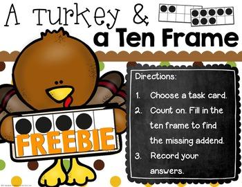 FREEBIE - Ten Frame Turkey