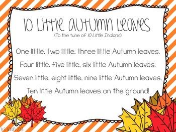 FREEBIE Ten Little Autumn Leaves