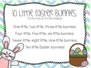 FREEBIE Ten Little Easter Bunnies