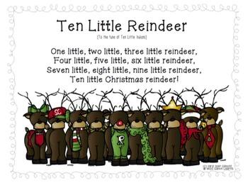 FREEBIE Ten Little Reindeer poem
