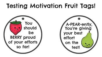 FREEBIE Testing Motivational Fruit Tags!