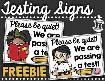 FREEBIE - Testing Sign