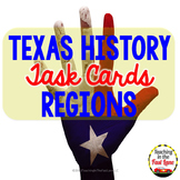 Texas Regions Task Cards with Optional Self Checking QR Codes