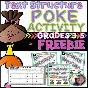 FREEBIE: Text Structure POKE Activity (or task cards)