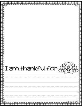 FREEBIE - Thankful Writing