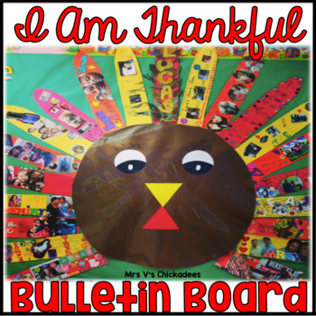 FREEBIE: Thanksgiving Bulletin Board: I Am Thankful