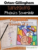 FREEBIE!  Thanksgiving Color by Code - Phonics Spelling Scramble-Sounds of Y
