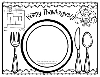 FREEBIE Thanksgiving Feast Placemat