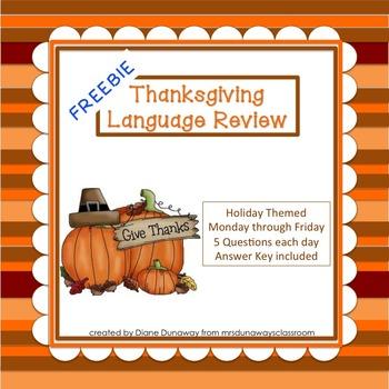 FREEBIE: Thanksgiving Language Review