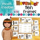 Thanksgiving Ten Frames Freebie