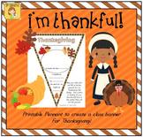 "FREEBIE ""Thanksgiving"" Pennant Banner Worksheet"