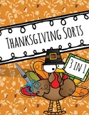 FREEBIE- Thanksgiving Sorts