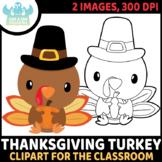 FREEBIE - Thanksgiving Turkey Clipart (Lime and Kiwi Designs)