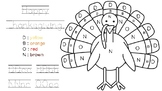 FREEBIE!! Thanksgiving Turkey Color by Letter