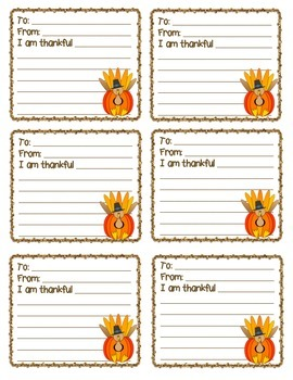 {FREEBIE} - Thanksgiving Turkey Notes