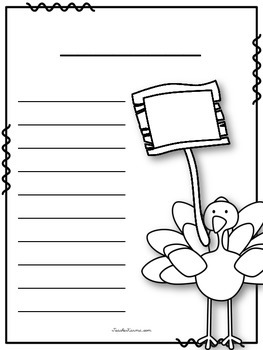 FREEBIE Thanksgiving Writing Papers ~ Add to Literacy Center ~ Turkey