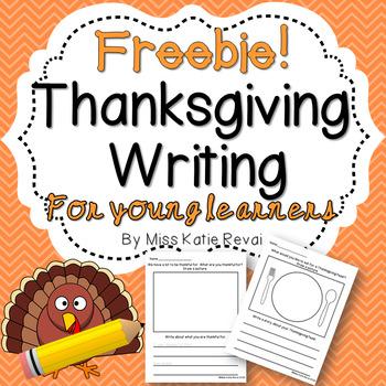 FREEBIE! Thanksgiving Writing for K-2