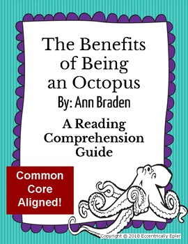 FREEBIE! The Benefits of Being an Octopus Reading Comprehension Guide