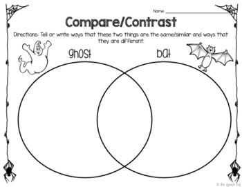 FREEBIE! The Ghost That Wasn't Spooky: Describing and Compare/Contrast