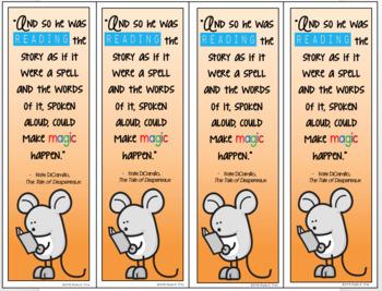 The Tale of Despereaux Novel Study Bookmark FREE