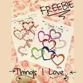 FREEBIE - Things I love...