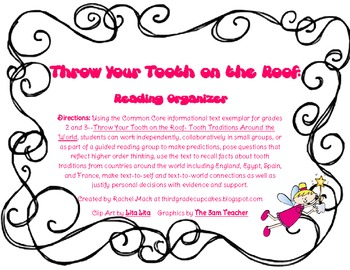 FREEBIE Throw Your Tooth on the Roof: Reading Organizer