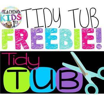 FREEBIE Tidy Tub Labels
