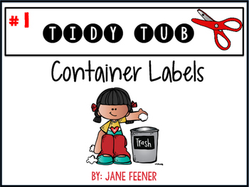 FREEBIE Tidy Tub labels