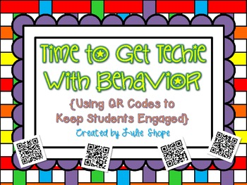 FREEBIE Time to Get Techie {QR Codes for Behavior}