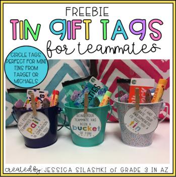 FREEBIE: Tin Gift Tags- for teammates