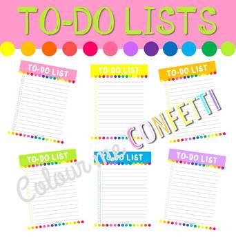 FREEBIE To-Do Lists - Colour me Confetti
