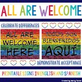 All Are Welcome Here | Todos Son Bienvenidos Aquí Printable Signs