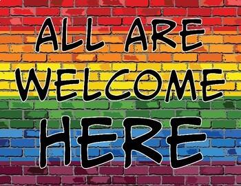 All Are Welcome Here   Todos Son Bienvenidos Aquí Printable Signs