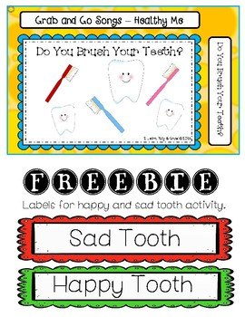 Tooth Brushing Song and Dental Health Activity