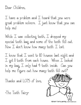 **FREEBIE** Tooth Fairy Story Problem