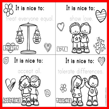 "FREEBIE: Trace, Color & Say, ""It is Nice to..."" Mini-Book"