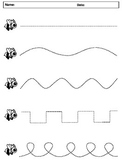 FREEBIE - Tracing shapes, numbers and letters with Flashcards