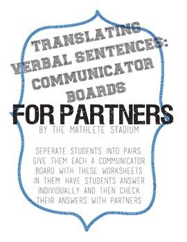 FREEBIE: Translating Verbal Sentences With Communicator Bo