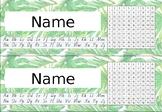 FREEBIE | Tropical Name Plate Editable