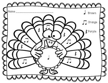 FREEBIE Turkey Color By Pattern