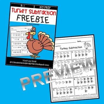 FREEBIE Turkey Subtraction