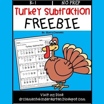 Turkey Subtraction FREEBIE