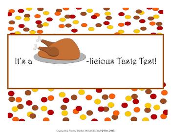FREEBIE: Turkey Taste Test Activity