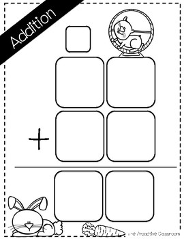 FREEBIE! Two Digit Addition and Subtraction Work Mats