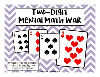 FREEBIE! Two-Digit Mental Math War