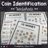 FREEBIE - US Money - Coin Identification : penny - nickel - dime - quarter