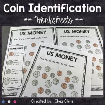 Penny Nickel Dime And Quarter Worksheet Teaching Resources