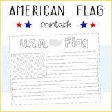 FREEBIE! USA / American Flag Printable Coloring Sheet