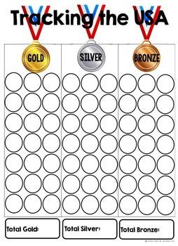 FREEBIE--USA Olympic Medal Tracking Sheet