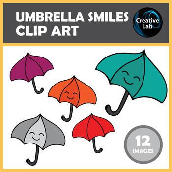 FREEBIE – Umbrella Smiles (Weather) Clip Art Set – 12 images